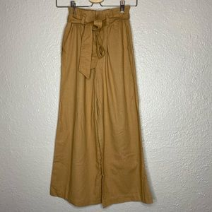 Forever 21 Wide Leg Paperbag Pants with Belt